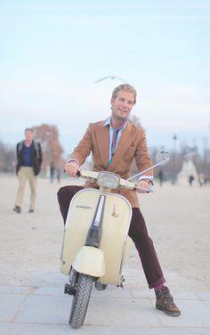 #Vespa #scooter #moped #man #style
