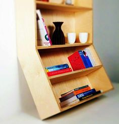 Angled Bookcase by Robert Worth