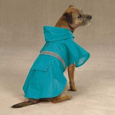 Guardian Gear Brite Rain Jacket for Pets, Medium, Bluebird Size Medium Fits Pets up to 16 Inches in Length. Each jacket has a drawstring hood, leash opening and handy back pocket with a Velcro. Reflective stripe on the back ensures pets can be seen at night/in the dark.  #Guardian #Pet_Products