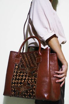Arimbi Dwi Batik Leather Bag