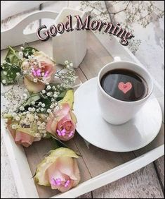 Good Morning Coffee Gif, Good Morning World, Good Morning Photos, Good Morning Flowers, Good Morning Good Night, Good Morning Wishes, Day For Night, Morning Images, Happy Weekend Images