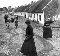 "henkheijmans: ""A street in the little village of Fairhead, near Galway, Ireland, ca. 1902 - by H. Galway Ireland, Ireland Travel, Cork Ireland, Ireland Vacation, Vacation Travel, Time Travel, Old Pictures, Old Photos, Images Of Ireland"