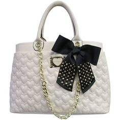 Betsey Johnson Be My Sweetheart Quilted Tote Bag
