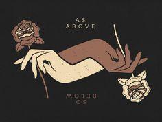 As Above, So Below Poster dark floral roses hands poster Art Et Design, Illustration Art, Illustrations, Witch Art, Witch Aesthetic, Book Of Shadows, Dark Art, Art Inspo, Cool Art