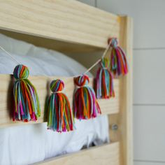 DIY Garland For Your Dorm Room  ~ we ❤ this! moncheriprom.com  #DIYTasselGarland