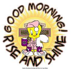 Harley Davidson Shop, Harley Davidson Quotes, Harley Davidson Pictures, Harley Davidson Motorcycles, Morning Love, Good Morning Good Night, Mickey Mouse Quotes, Funny Good Morning Quotes, Bike Quotes