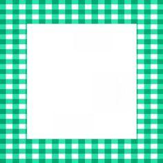 green gingham frame