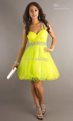 2017 Ball Gown Dresses Sweetheart Neck Knee-Length Chiffon Beading Actual Images Sexy One-Shoulder Homecoming Dresses Hot Sale