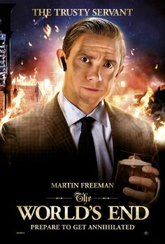 The Worlds End - Martin Freeman ~ I am kind of excited to see this. Followed Simon Pegg on Twitter throughout the shooting.