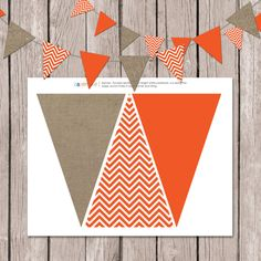 Instant Download // Pumpkin Banner // Fall by papernoteandco