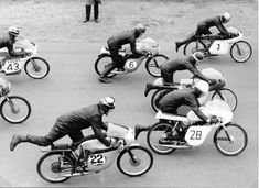 the old day's: Photo Cafe Racer Motorcycle, Racing Motorcycles, Vintage Bikes, Vintage Motorcycles, The Old Days, Vintage Racing, Road Racing, Race Day, Vintage Photographs