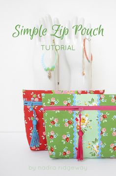 Simple Zip Pouch Tutorial @ Ellis & Higgs thanks so xox ☆ ★ https://uk.pinterest.com/peacefuldoves/