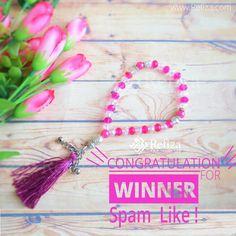Selamat kepada Vinda Putri sebagai pemenang spam like instagram minggu ini. Silahkan hubungi customer service kami.  Buat yang belum beruntung, jangan patah semangat, pemenang spam like akan diumumkan setiap 2 minggu sekali. Siapa tau kalian yang akan menjadi pemenang selanjutnya.