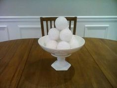 decorative bowl with x-mas ornaments