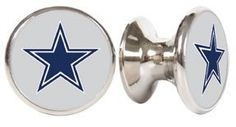 Dallas Cowboys NFL Stainless Steel Cabinet Knobs. We are refinishing a dresser for Levi's room to match the crib, bought these to put on the dresser.