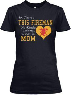 Proud Mom of Firefighter son Picture frame idea Firefighter Crafts, Firefighter Family, Firefighter Shirts, Firefighter Quotes, New T Shirt Design, Shirt Designs, Fireman's Prayer, Cute Summer Tops, Paramedics
