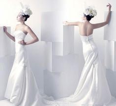 Strapless bridal gown from Singapore based Le Grand Wedding
