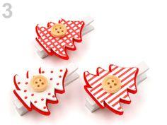 DIY vánoční kolíčky: Vločka nebo stromeček na kolíčku