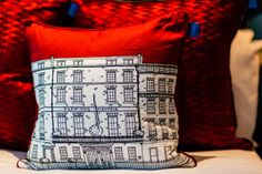 Flemings Hotel, Mayfair, bespoke cushion