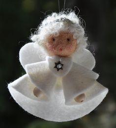 Felt angel decoration White angel ornament Christmas angel decoration White angel Christmas decoration MADE TO ORDER Christmas Angel Decorations, Christmas Angel Ornaments, Felt Ornaments, Angel Crafts, Christmas Projects, Felt Crafts, Christmas Crafts, Felt Angel, Christmas Sewing