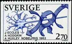 Sweden 1984 - Nobel Price in medicine Martin Mörck sc. Alfred Nobel, Nobel Prize Winners, Chat Board, Stamp Collecting, Physiology, Postage Stamps, Literature, Science, 1984