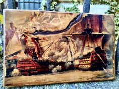 Excited to share the latest addition to my #etsy shop: Battle of Trafalgar Wooden Picture Home Decor Wall Art Victory Nelson