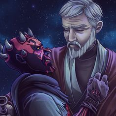 """Clef's Lair — Repost of my Maul and Obiwan drawing. """"he will..."""