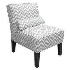 Grey ZigZag Armless Slipper Chair.Opens in a new window