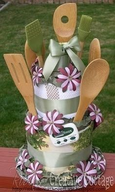 bridal shower kitchen cake...could be housewarming as well...even birthday if the person loves cooking