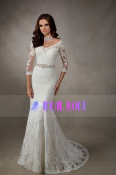 2016 Court Train V Neck Tulle With Applique And Beads Mermaid Wedding Dresses € 266.90 IRP2APBYYH - IdealRobe.fr for mobile