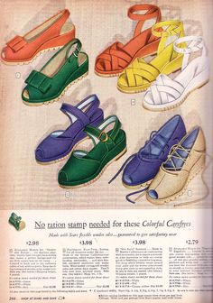 1940's fashion shoe ad