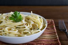 September 17, 2015 - spaghetti aglio e olio - Sometimes the best recipes are also the most simple, like this rustic Italian dish that uses just seven...