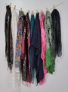 super simple scarf storage! easy peasy!