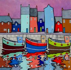 "Paul Bursnall - Quay Colours, acrylic, 20"" x 20"""
