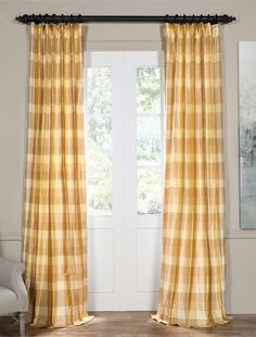 Shop 48 different color combinations in silk striped curtains, choose your own length, learn how to measure your windows, and get free fabric samples. Plaid Curtains, Striped Curtains, Drapes Curtains, Valance, Maroon Bedroom, Free Fabric Samples, Curtain Designs, Discount Curtains, Window Treatments