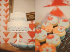 Mid Century Mod Wedding Ideas... Look how cute those treats are! Way to go Cupcakes by Julie!