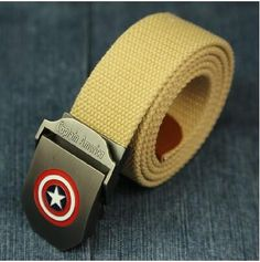 Captain America Canvas Belt - Mens And Woman Belt - Superhero Universe