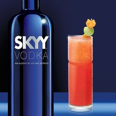 Our beginning was motivated by one man's search for a better martini. The solution was simple in theory: Start with a better vodka Vodka Alcohol, Skyy Vodka, Cocktail Recipes, Cocktails, Vodka Bottle, Water Bottle, Cantaloupe And Melon, Collins Glass, Apricot Recipes