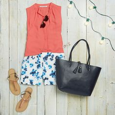 Love these shorts and top!