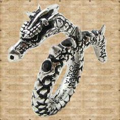 Vis Viva Ring in Rings from Jewellery. The living power, Vis Viva overwhelming energy and the force of life encircles and liberates the wearer. Dragon Ring, Alchemy, Skulls, Pewter, Dragons, Swarovski Crystals, Gothic, Brooch, Range