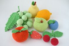 Crochet food Crochet Fruit and Vegetable Play food  Soft toys Handmade toy Eco friendly Kitchen deco