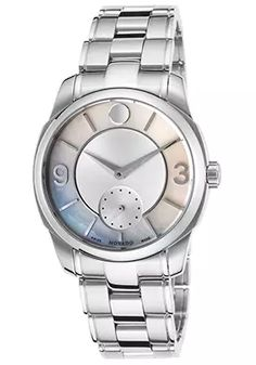 66% Off Movado Women's LX Stainless Steel Silver-Tone and White MOP Dial Watch