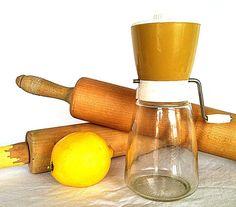 Vintage Kitchen Gadget Federal Glass Grinder by NonabelleVintage,