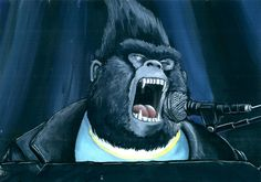 Johnny from Illuminations Sing. Johnny is a soulful Cockney gorilla whose beautiful singing voice and passion for music are in direct opposition to his role in his fathers bank robbing cre. Illumination Sing, Sing Movie, Pencil Test, Movie Club, Drawing Conclusions, Still Standing, Johnny Was, Unusual Gifts, Good Movies