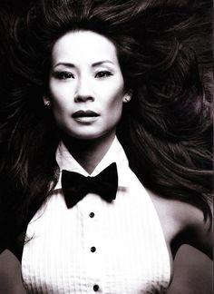 000e22b7ed0 Lucy Liu - L Uomo Vogue by Mark Seliger