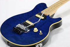 Sterling by Musicman AX40 Transparent Blue Used Guitar w/Soft Case Free/S EMS…