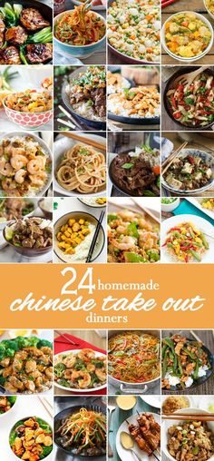 24 HOMEMADE CHINESE TAKE OUT RECIPES! Easy Copycat Chinese Recipes of all of your favorite delivery recipes! Make them (better) at home! Chinese take out is the best! I always eat it on family reunions. Its so flavorful and delicious. Authentic Chinese Recipes, Easy Chinese Recipes, Chinese Desserts, Healthy Diet Recipes, Vegetarian Recipes, Cooking Recipes, Restaurant Recipes, Dinner Recipes, Homemade Chinese Food