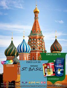 Kawan EMCO terinspirasi dari keindahan Kathedral St. Basil, cerahkan hunianmu dengan warna EMCO LUX 96, EMCO LUX 70 dan E03-44 pada palet EMCO. Untuk artikel menarik lainnya silakan cek di http://matarampaint.com/news.php