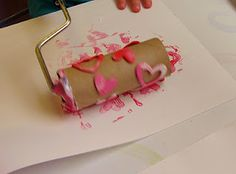 All you need is a paint roller, paper towel tube, foam stickers, paint, and off you go with a homemade print roller!