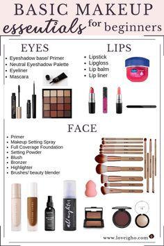 makeup for beginners Basic Makeup Essentials For Beginners Makeup Primer, Makeup Dupes, Skin Makeup, Beauty Makeup, Beauty Dupes, Drugstore Beauty, Makeup Eyeshadow, Eyeshadow Guide, Eyeshadows